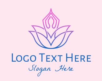 Yoga - Lotus Yoga Studio logo design