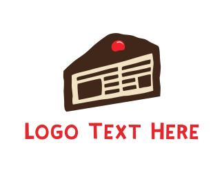 Publishing - Cake News logo design