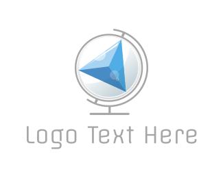 Atlas - Compass Globe logo design