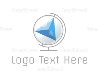 Globe - Compass Globe logo design