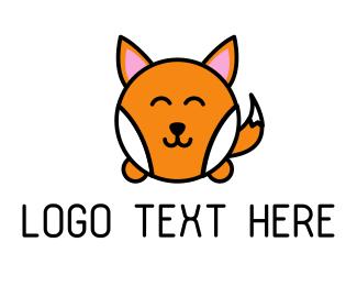 Smiling - Cute Corgi logo design