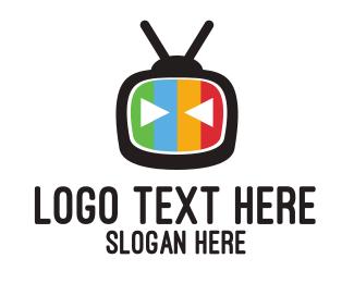 Tv - Robot & Tv logo design