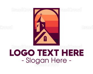 Cathedral - Cathedral Sunset logo design
