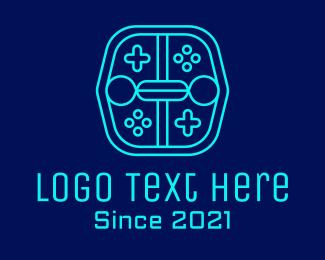 Controller Pad - Minimalist Gaming Robot logo design