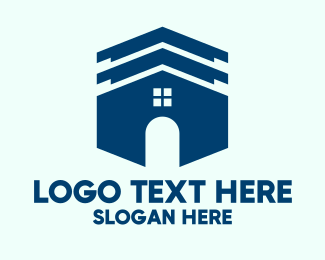 Home Repair - Blue House Roofing  logo design