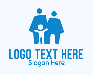 Family - Blue Family Home logo design
