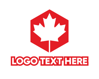Red Hexagon - Canadian Hexagon logo design