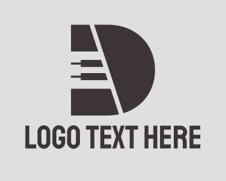 Concert - Piano Letter D logo design