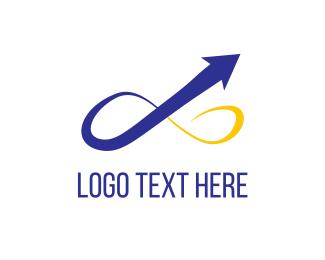 Logistics - Infinity Arrow logo design