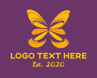 Dance - Butterfly Art logo design