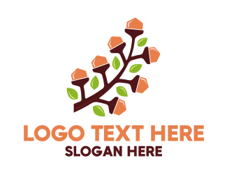 Forest - Nut Branch logo design