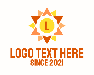 """Multicolor Sun Lettermark "" by royallogo"