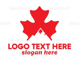 Canadian - Canadian Mountain Peak logo design