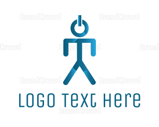 Man - Startup Man logo design
