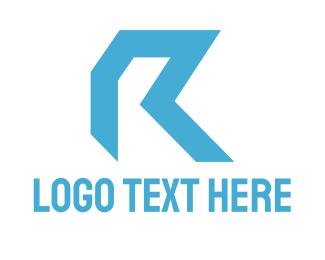 Blue Letter R Logo