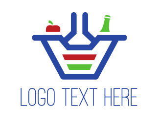 Food App - Food Basket logo design