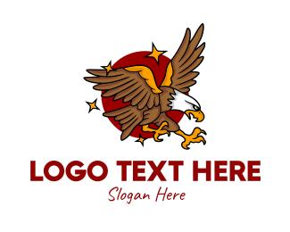 Flying - Eagle Bird Flying logo design