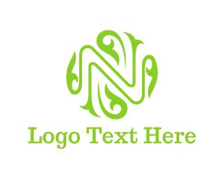 Elegance - Floral Letter N logo design