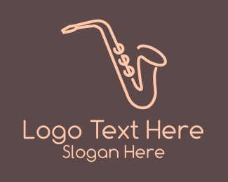 Ska Band - Music Saxophone logo design