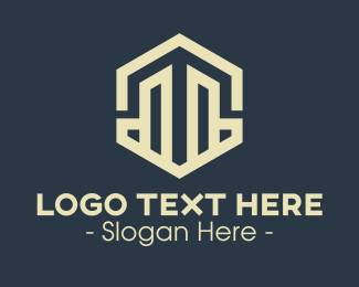 Investment - Property Capital Hexagon logo design