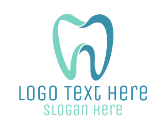 Green Tooth - Modern Blue Tooth logo design