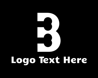 Dog Sitting - Black & White Bone Letter B logo design