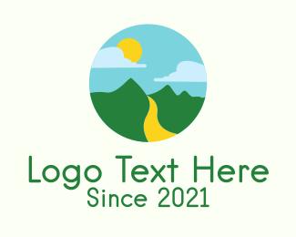 Circle - Provincial Mountain Scenery logo design