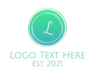 Environtment - Green Stroke Lettermark logo design