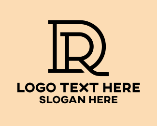 Hair Stylist - Black Thin DR logo design