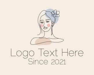 Stylist - Monoline Woman Stylist logo design