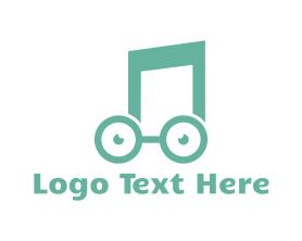 Geek - Music Nerd logo design