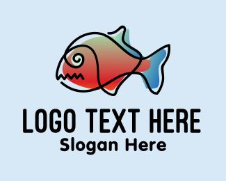 Art - Watercolor Fish Art logo design