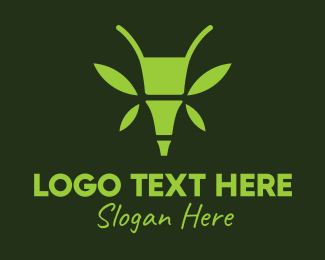 Bamboo - Green Bamboo Insect logo design