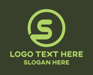 Worm - Green S Circle logo design