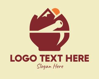 Landform - Brown Mountain Apothecary logo design