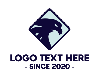 Squadron - Blue Eagle Head logo design