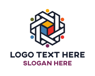 Group - Business Colorful Cube  logo design