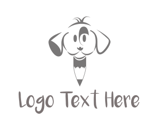 Draw - Puppy Pencil logo design