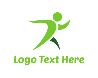 Person - Green Fitness logo design