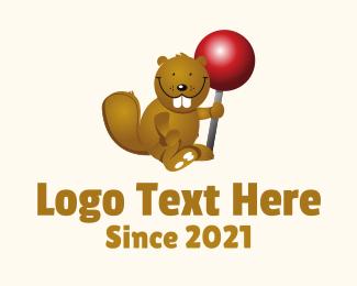 Sweets - Cute Beaver logo design