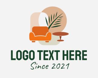 Living Room - Tropical Room Decoration logo design