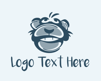 Wink - Monkey Chimp Face  logo design
