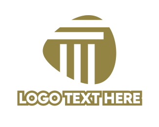 Court House - Abstract Stripe Pillar logo design