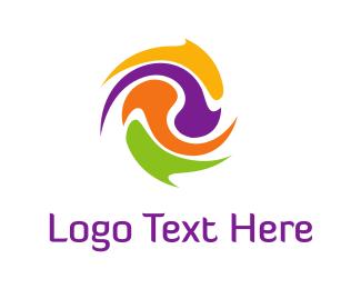 Hurricane - Color Twist logo design