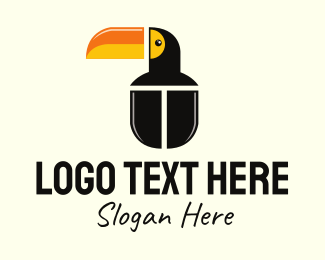 Black Bird - Toucan Computer Mouse logo design
