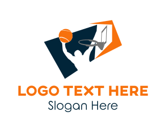 Tennis - Basketball Player logo design