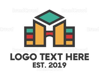 University - Geometric University logo design