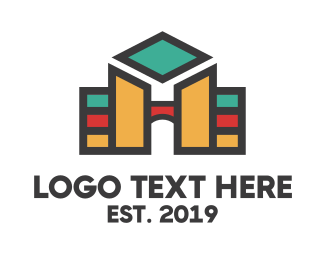 Teacher - Hotel University logo design