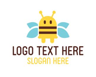 Plug - Yellow Bee Plug logo design