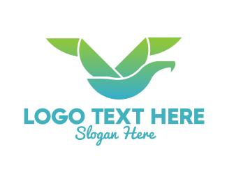 Seagull - Geometric Seagull logo design
